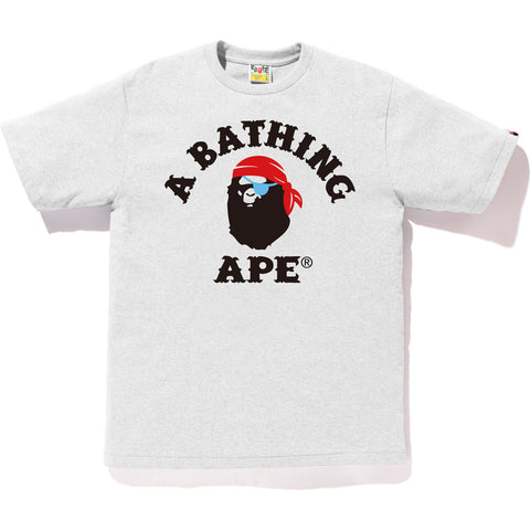APE PIRATE COLLEGE TEE MENS