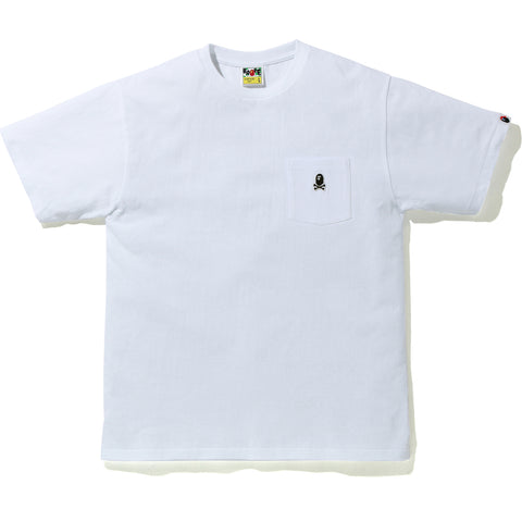APE CROSSBONE ONE POINT POCKET TEE MENS
