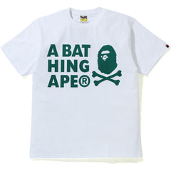 A BATHING APE CROSSBONE PIGMENT PRINT TEE MENS