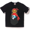 PIRATE MILO ON APE HEAD TEE KIDS