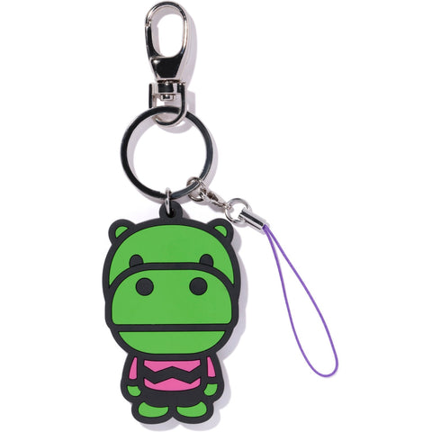 KEYCHAIN RUBBER HIPPO