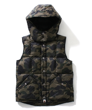 1ST CAMO DOWN VEST LADIES