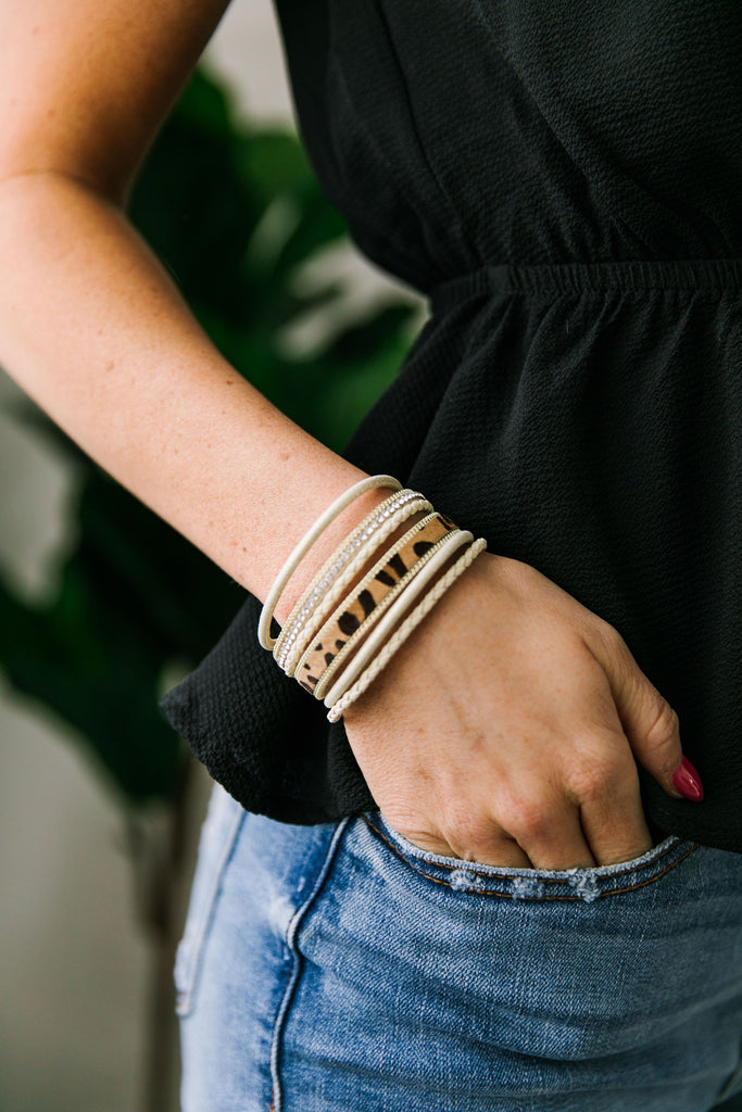 Bling On The Leopard Cuff - SHOPTHRIVER