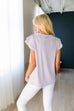 Double Ruffle Top In Lavender - SHOPTHRIVER