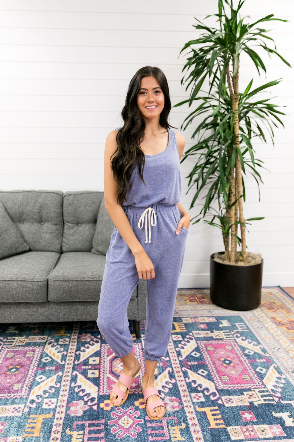 Almost Pajamas Jumpsuit - SHOPTHRIVER