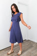 Babydoll Blue Ruffle Sleeve Dress - SHOPTHRIVER