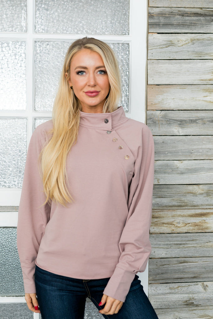 Blush Button-Up Top - ALL SALES FINAL - SHOPTHRIVER