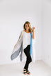 Cool Striped Color Block Kimono - SHOPTHRIVER