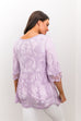 Flirty Lace Blouse In Lavender - SHOPTHRIVER