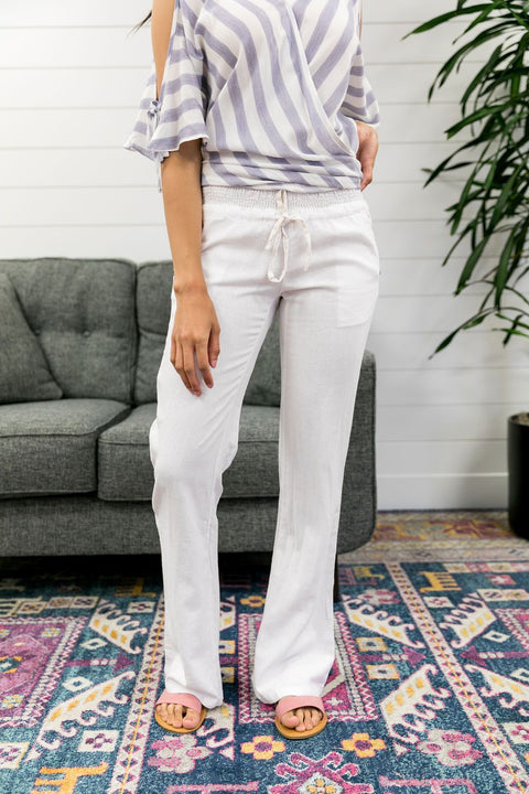 I'm On Vacation Linen Pants - SHOPTHRIVER