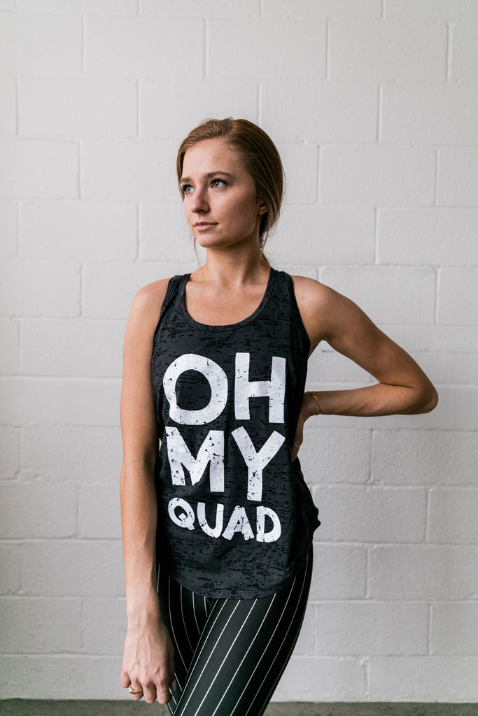 Oh My Quad Burnout Tank In Black - SHOPTHRIVER
