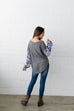 Patchwork Of Promises Top In Gray - SHOPTHRIVER
