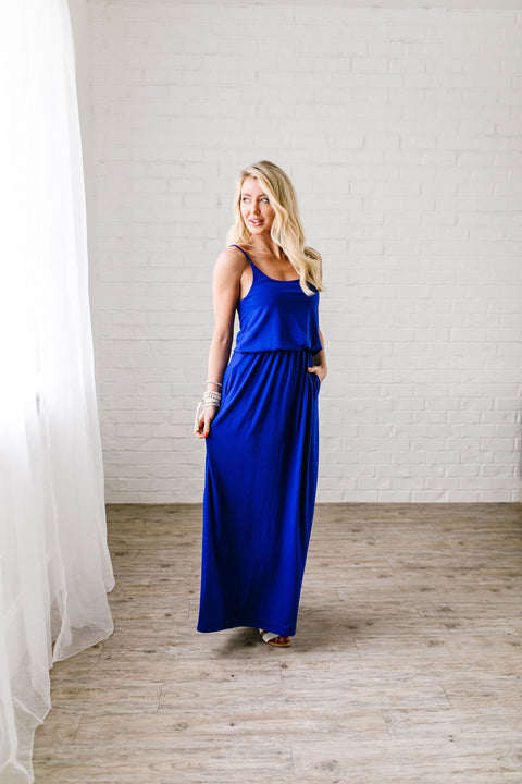 Play The Day Away Maxi In Sapphire - SHOPTHRIVER