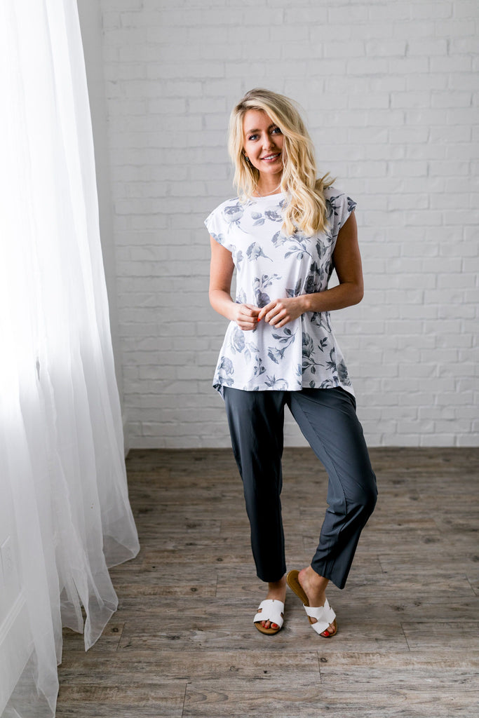 Shadowbox Floral Athleisure Top - SHOPTHRIVER