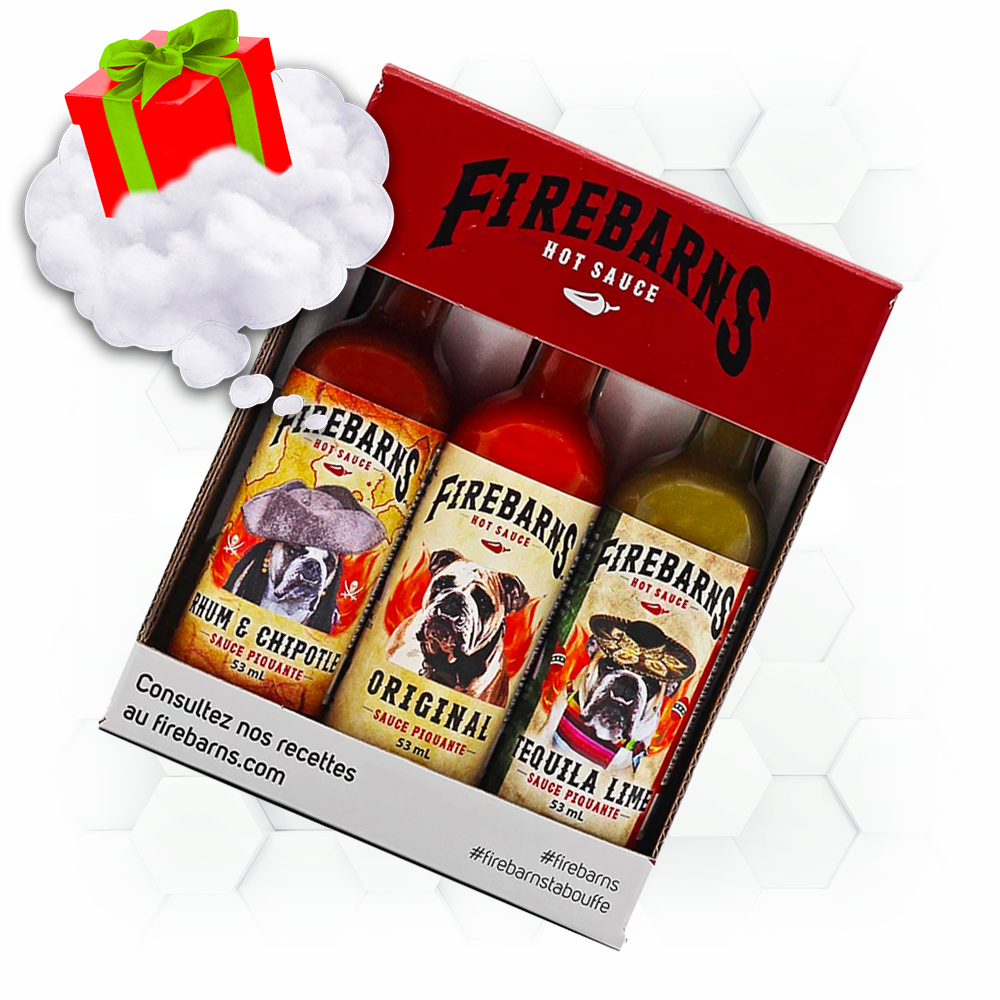 firebarn, sauce piquante, hot sauce, cadeau, coffret, ensemble, spicy,