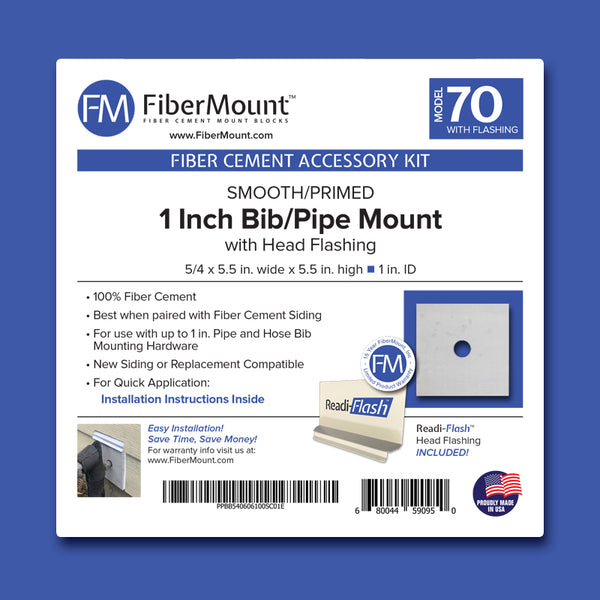 Accessory Mount Kit - 1 in Bib Mount w/Head Flashing