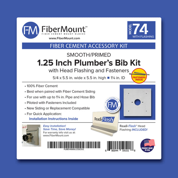 Plumber's Bib Mount Kit - 1.25 in W/Head Flashing and Fasteners