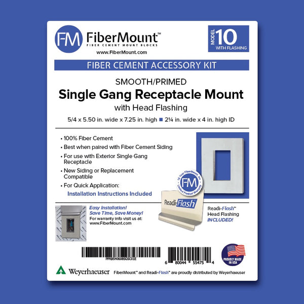 Accessory Mount Kit- Receptacle Mount - Single Gang w/Head Flashing
