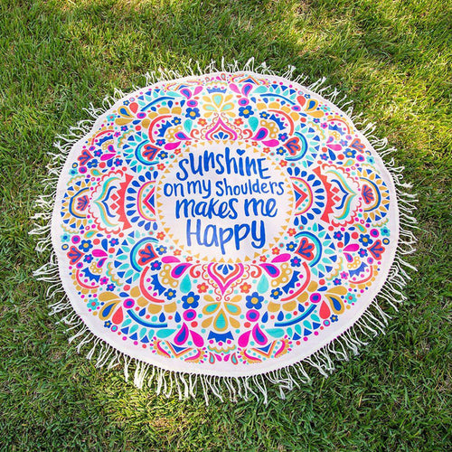 SUNSHINE ROUND BEACH THROW TOWEL