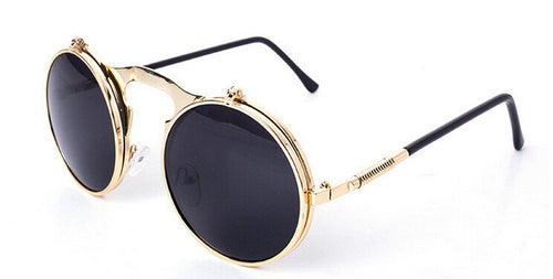 METAL FRAME STEAMPUNK SUNGLASSES