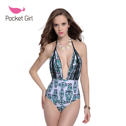 ONE PIECE CUT OUT PRINT SWIMSUIT