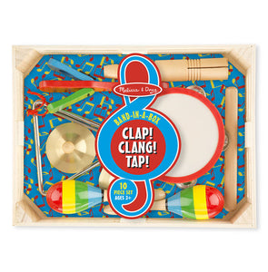 Melissa & Doug Band-in-a-Box - Clap! Clang! Tap! - Bloom Kids Collection - Melissa & Doug