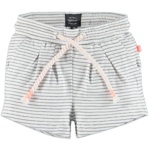 Babyface Baby Girl Striped Shorts  - White Foam - Bloom Kids Collection - Babyface