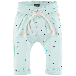 Babyface Baby Girl Dot Pant - Soft Mint - Bloom Kids Collection - Babyface