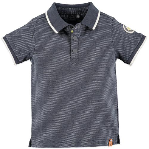 Babyface Boys Polo Short Sleeve Shirt - Smoke - Bloom Kids Collection - Babyface
