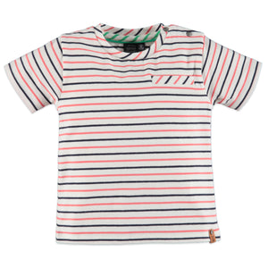 Babyface Boys Striped Short Sleeve Tee - Bloom Kids Collection - Babyface