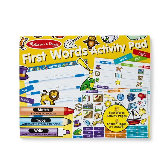 Melissa & Doug First Words Activity Pad - Bloom Kids Collection - Melissa & Doug