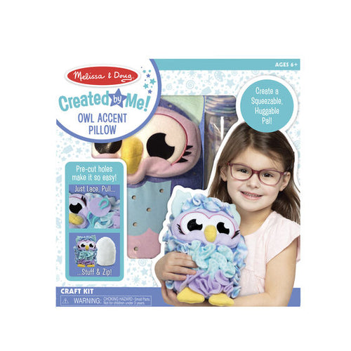 Melissa & Doug Created by Me! Owl Pillow - Bloom Kids Collection - Melissa & Doug
