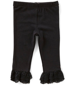 Flapdoodles Lace Ruffle-Hem Capri Legging - Bloom Kids Collection - Flapdoodles