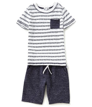 Flapdoodles Crew Pocket Tee Short Set - Bloom Kids Collection - Flapdoodles