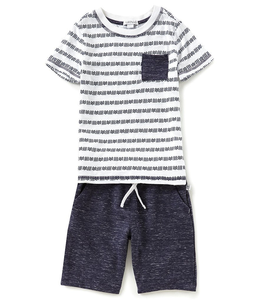 Flapdoodles Crew Pocket Tee Short Set Cool Toddler Clothes Boys