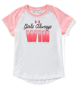 Under Armour Girls Always Win - White - Bloom Kids Collection - Under Armour