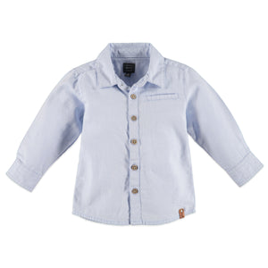 Babyface Boys Long Sleeve Shirt - Chambray Blue - Bloom Kids Collection - Babyface