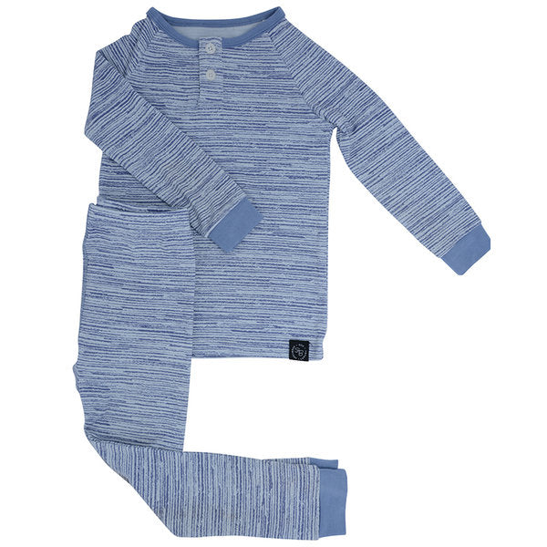 Sweet Bamboo PJ Set - Blue Chalk - Bloom Kids Collection - Sweet Bamboo