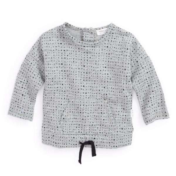 Miles Baby From the Block Grey Long Sleeve Top - Bloom Kids Collection - Miles Baby
