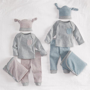 Mud Pie Grey Pink 4PC Gift Set - Bloom Kids Collection - Mud Pie