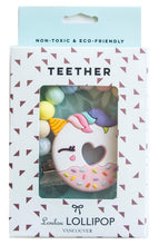 Loulou Lollipop Teether - Unicorn Donut with Holder - Bloom Kids Collection - Loulou Lollipop