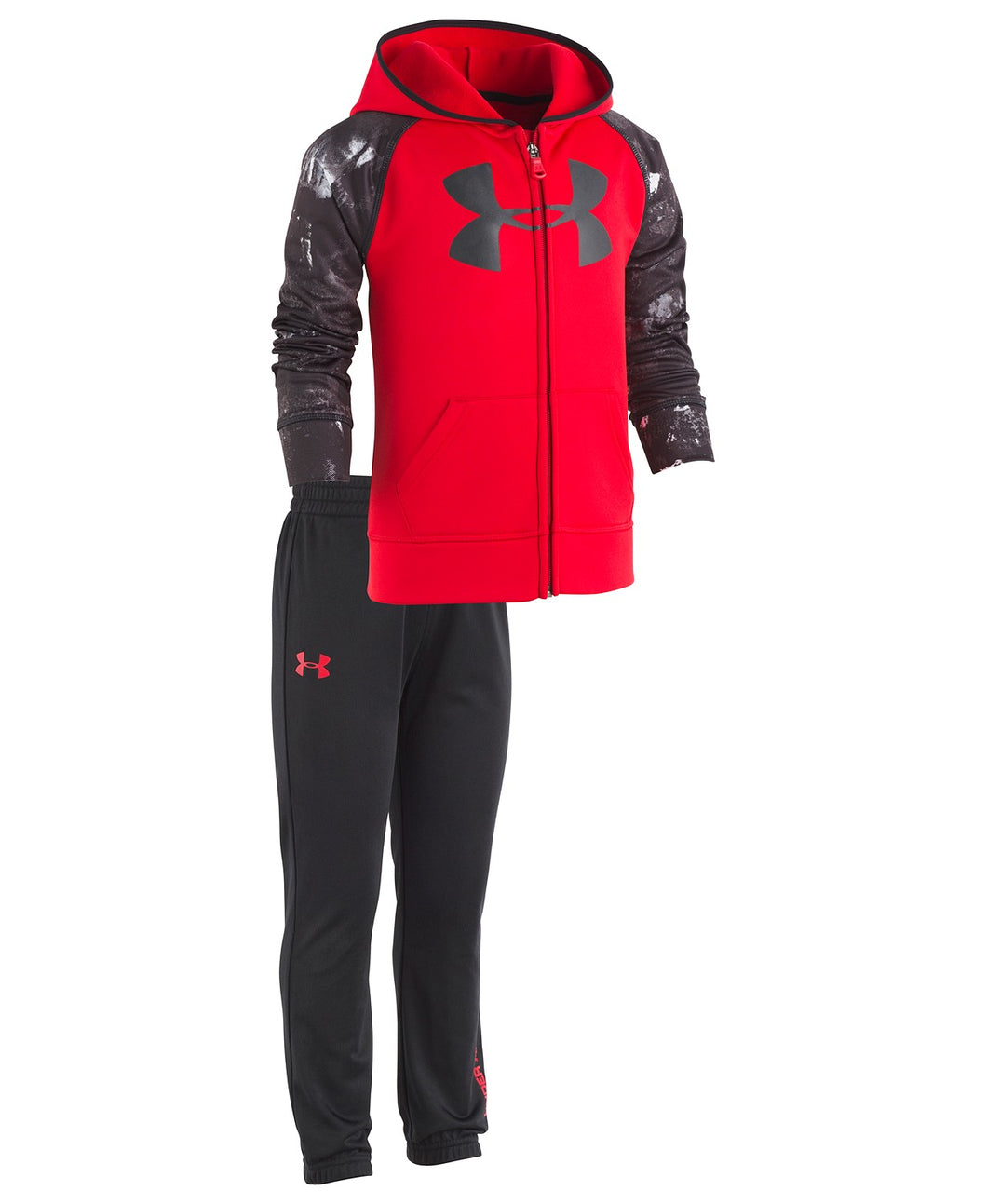 Under Armour Bedrock Camo Track Set - Red
