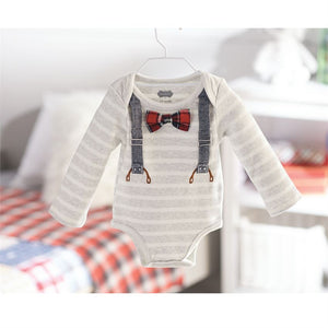Suspender Onesie and Bow Tie Set - Bloom Kids Collection - Mud Pie