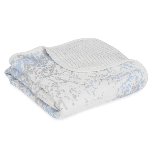 Aden + Anais Silky Soft Stroller Blanket - Blue Moon Birch - Bloom Kids Collection - Aden + Anais