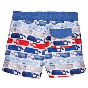 Mud Pie Whale Swim Trunks - Bloom Kids Collection - Mud Pie
