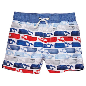 Mud Pie Whale Swim Trunks