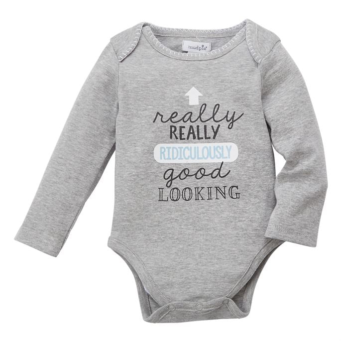 Mud Pie Really Really Boy Crawler - Bloom Kids Collection - Mud Pie