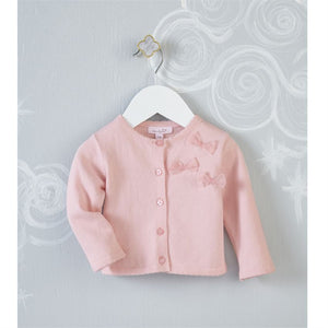 Mud Pie Pink Bow Cardigan - Bloom Kids Collection - Mud Pie