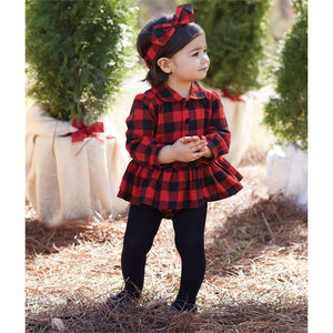 Mud Pie Buffalo Check Skirted Crawler - Bloom Kids Collection - Mud Pie