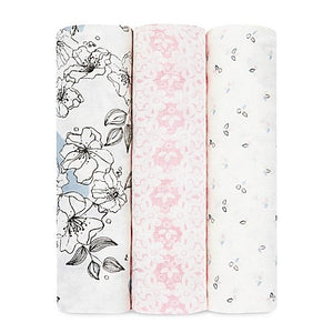 Aden + Anais Silky Soft Swaddles - Meadowlark 3-pack - Bloom Kids Collection - Aden + Anais
